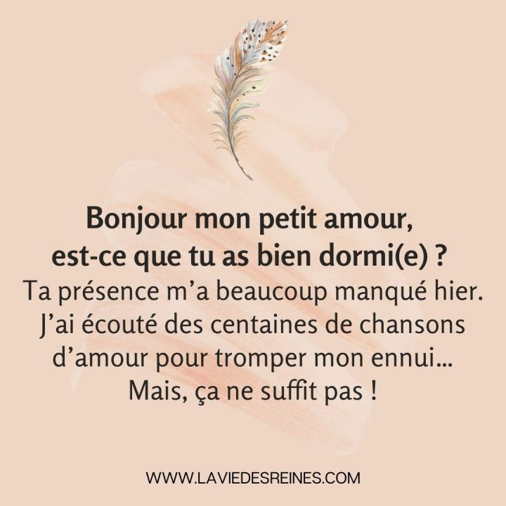 Amour message matin 20 SMS