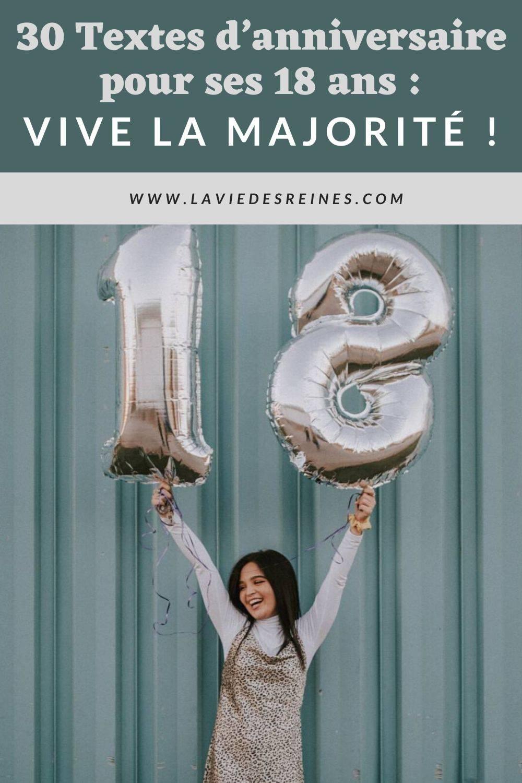 30 Textes D Anniversaire Pour Ses 18 Ans Vive La Majorite
