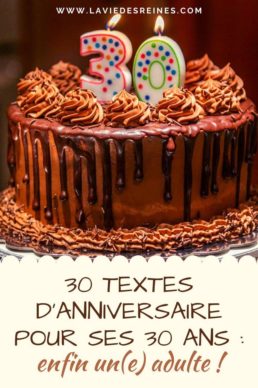 30 Textes D Anniversaire Pour Ses 30 Ans Enfin Un E Adulte