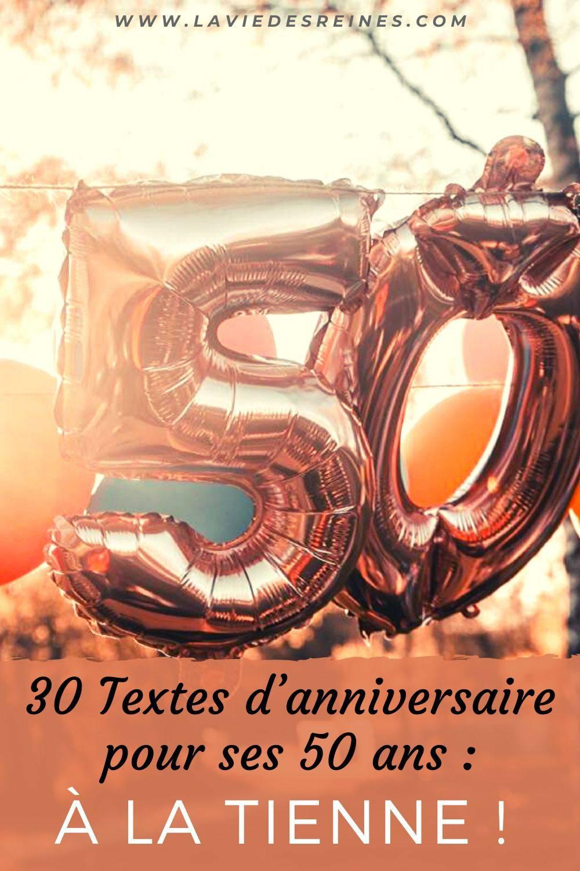 30 Textes D Anniversaire Pour Ses 50 Ans A La Tienne